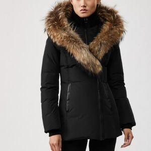 Womens Authentic Mackage ; Black with Fur Hood!